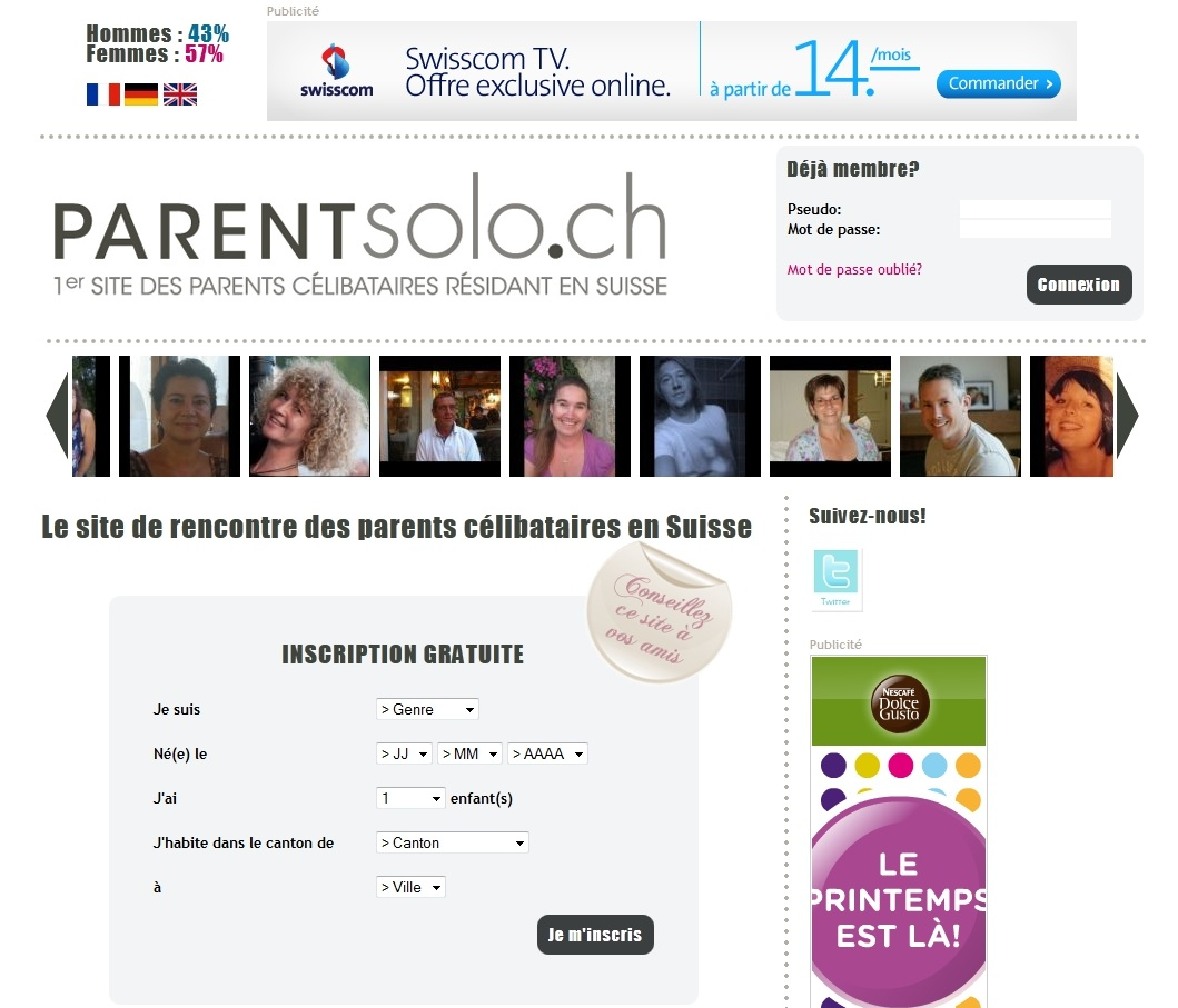 Site rencontre parent solo suisse