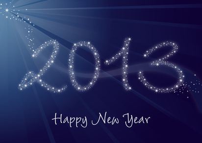 2013 Greeting card - Happy New Year