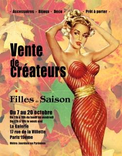 Affiche boutiques +®ph+®m+¿re Villette octobre 2013