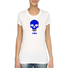 Tshirt lol bleu Version Femme