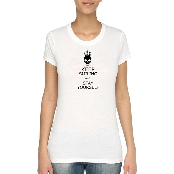 Tshirt Keep Smiling Version femme