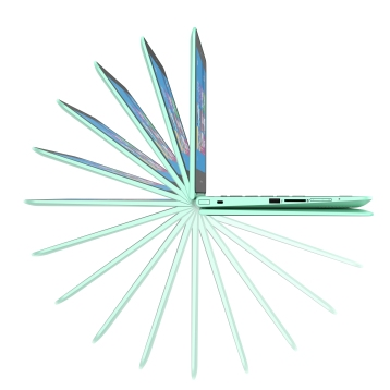 "2c15 - HP Pavilion x360 (11.6"", Minty Green), Key Visual, Right facing profile ©HP"
