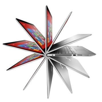 """2c15 - HP ENVY x360 (15"""", Natural Silver), Key Visual, Pinwheel ©HP"""