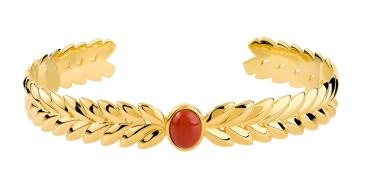 Bracelet jonc plaqué or pierre imitation 60 mm 99e