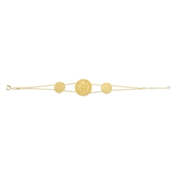 MATY bracelet métal doré médaille serpent 55e