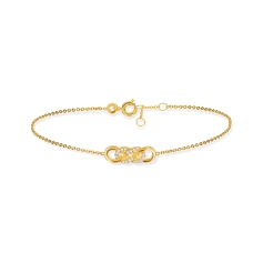 MATY bracelet plaqué or et zircon 49e