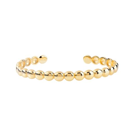 MATY bracelet plaqué or motif boule polie 85e