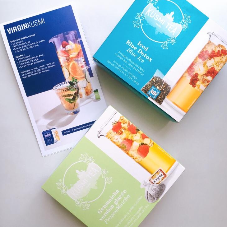 paquets de thé glacé kusmi tea et recettes de thé glacé