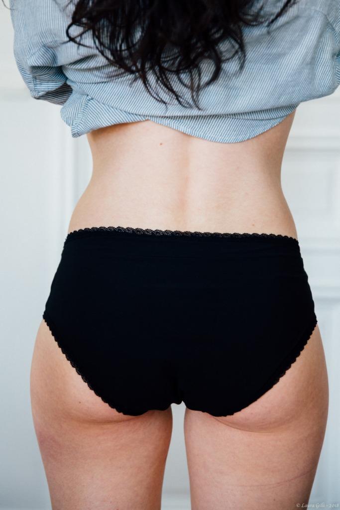 Culotte menstruelle noire
